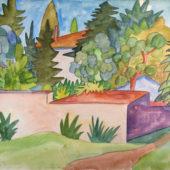 Aquarell Nr. 229 SigTh-AQ HA Pflanzen und Bäume 27. August 1922_bearbeitet-1