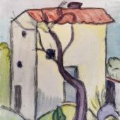 Aquarell Nr. 305 SigTh-AQ HA Tessiner Haus 1922 31x24 cm_bearbeitet-1