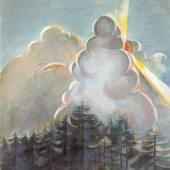 Hannah Höch: Gewitterwolken, Thüringer Wald 1912, Gouache, Privatsammlung, VG Bild-Kunst, Bonn 2017