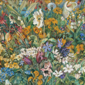 Hannah Höch: Aus dem blühenden Tal, 1937, Öl auf Leinwand, Privatsammlung, VG Bild-Kunst, Bonn 2017