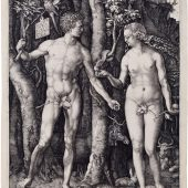 Albrecht Dürer-Adam and_Eve 1504 Engraving -komprimiert